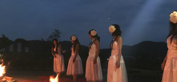 羽鳥湖高原レジーナの森さんでフラ&タヒチのイベント開催しました。
