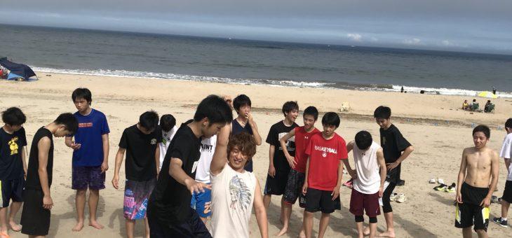 久慈浜海水浴場でイベントです。